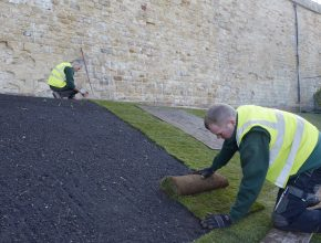 Turfing Lincolnshire Cathedral