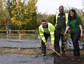 Volunteer landscaping project with People in Action in Nuneaton