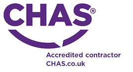 Purple Chas accredited logo