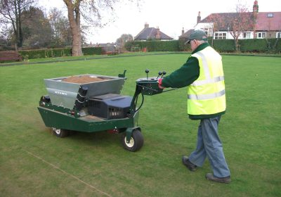 Seeding and preparing sports pitches