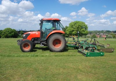 Tractor mounted mowing Blythe Hill Lewisham